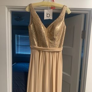 Bridals by Lori, Champagne/Gold Bridesmaid Dress